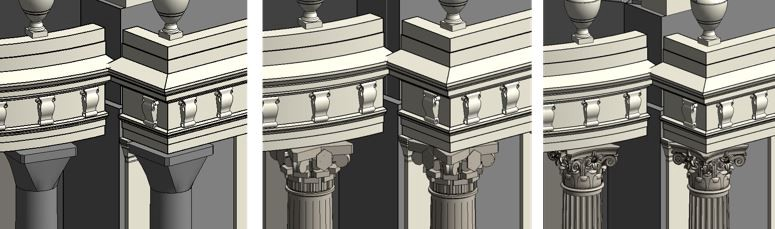 Highly detailed renders