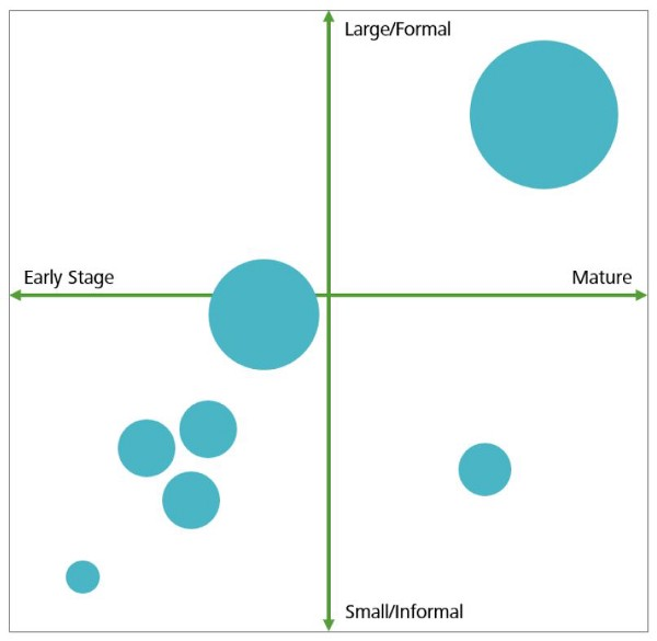 Range of communities of practice.