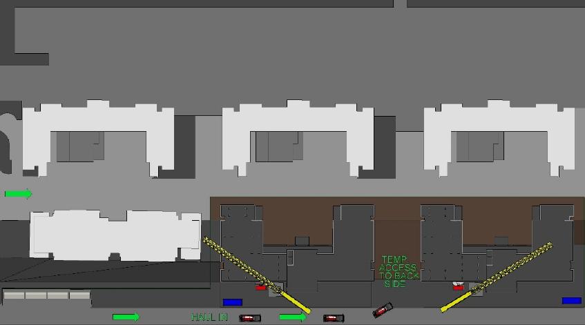 2D site logistics plan