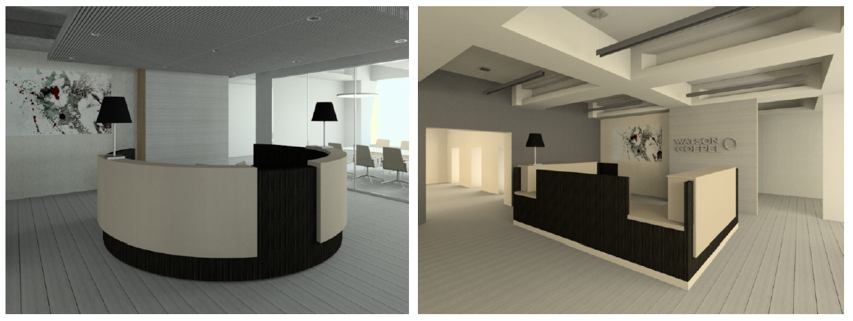 Evolution of the reception desk at Watson Goepel