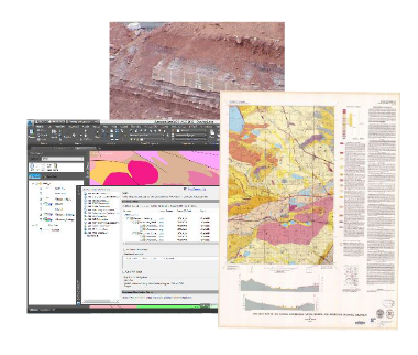 Geological maps, paper, scanned and/or digital