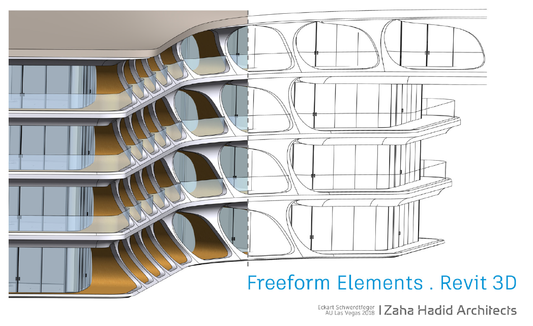 Free-form elements Revit 3D