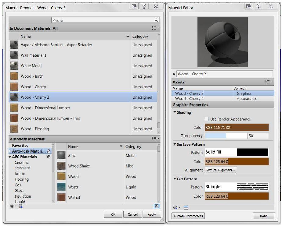 Default Global Settings: Manage Tab > Settings > Materials