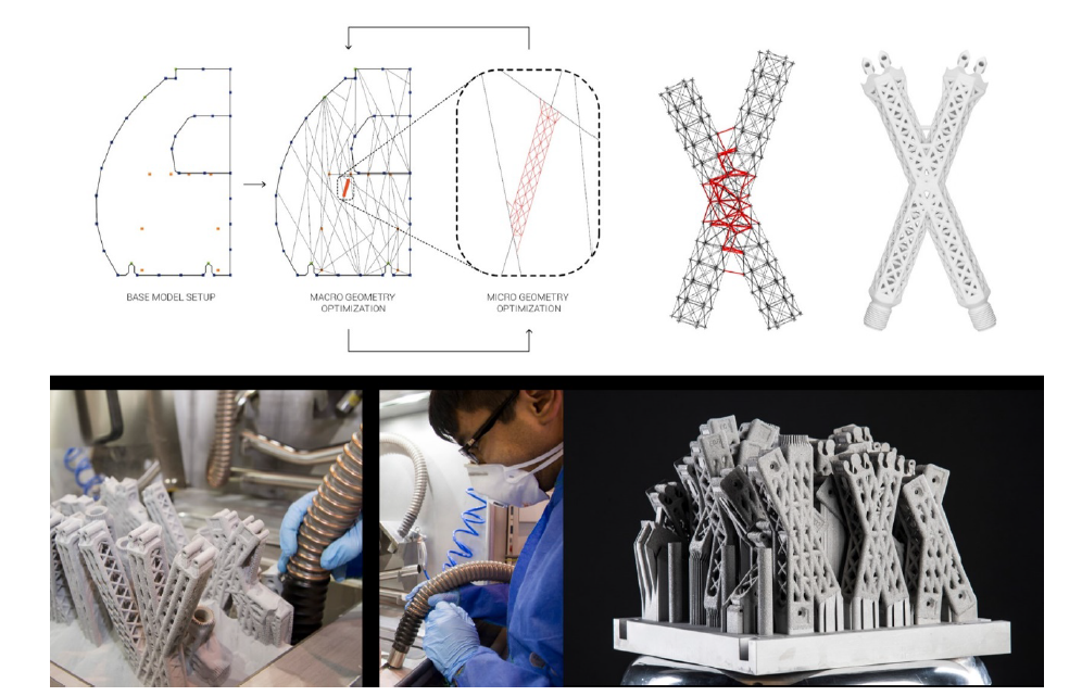 Final metal 3D printed partition Macro and micro optimization and metal 3D printing process