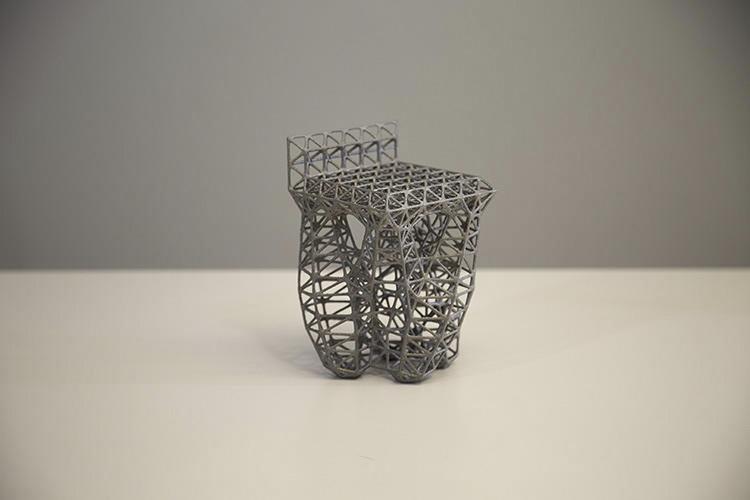 Computationally designed parametric chair