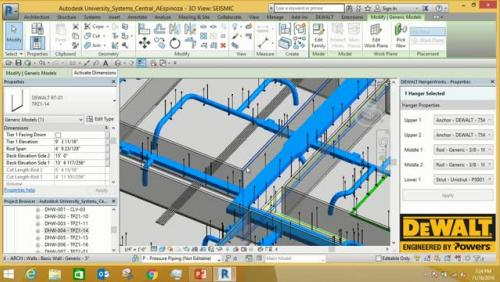 Revit Plug-in: Automated Hanger and Seismic Bracing Layout
